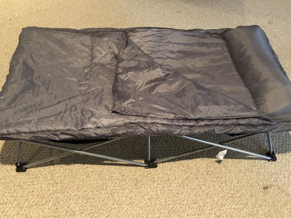 Folding cot and sleeping bag
