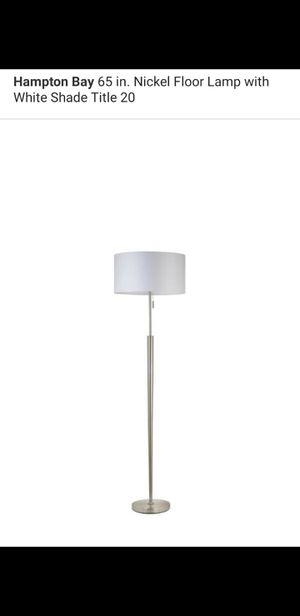 Hampton bay 65 in floor lamp with white shade for Sale in Bakersfield, CA