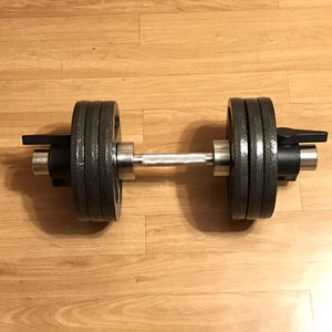 Single adjustable Olympic handle 70 lbs Total New for Sale in Hoffman Estates, IL