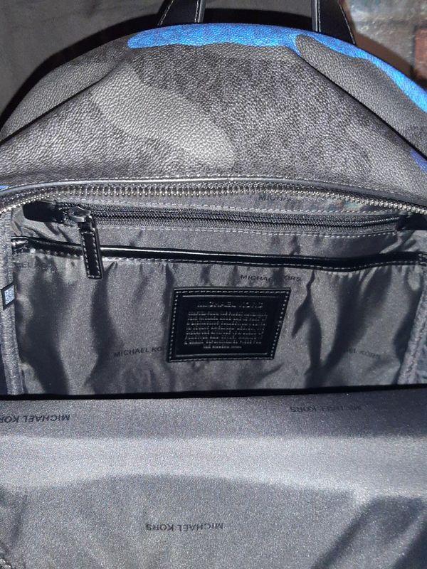 MICHAEL KORS Jet Set Blue Camo Backpack
