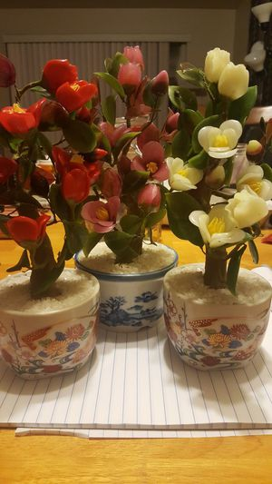 Antique Japanese Glass Flower Figurines for Sale in Seattle, WA