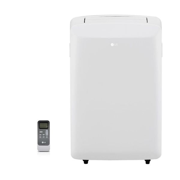 LG Electronics8,000 BTU (5,500 BTU,DOE) Portable Air Conditioner, 115-Volt w/ Dehumidifier Function and LCD Remote in White
