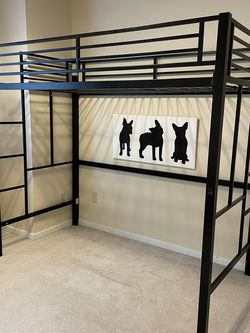 Black Metal Loft Bed for Sale in Bothell,  WA