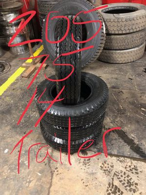 205 75 14 trailer tires D ply set of four for Sale in Cleveland, OH