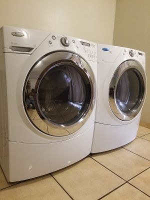 WHIRLPOOL WASHER AND ELECTRIC DRYER for Sale in Glendale, AZ