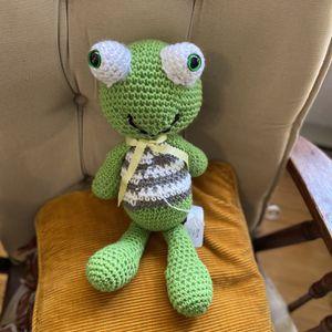 Hand Crochet Little Frog for Sale in Mechanicsville, MD