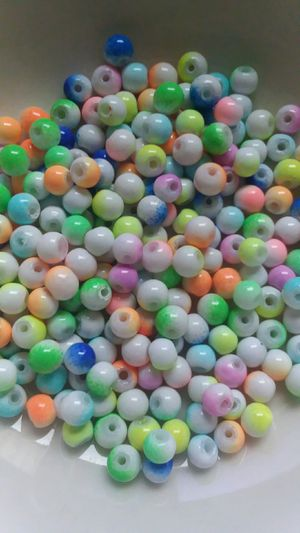 225 pc Mix Two Tone Glass Beads 4mm for Sale in Ridgeville, SC