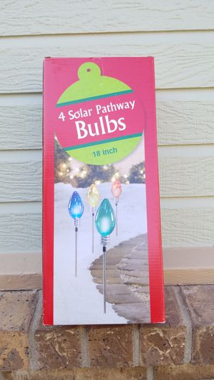 Holiday (4) Solar Pathway bulbs for Sale in Wichita, KS