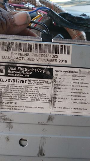 Dual dvd xdvd179bt for Sale in Denver, CO
