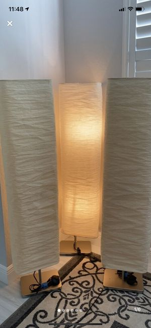 3 rice paper floor lamps in good condition for Sale in Delray Beach, FL