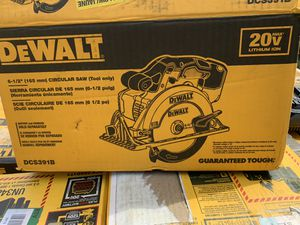 Dewalt 6-1/2 circular saw brand new no battery not negotiable for Sale in Plant City, FL