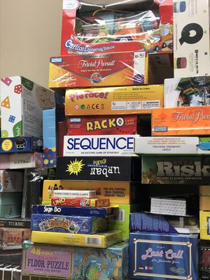 Board games and kids toys - prices vary new and some compete gently used - see all photos for Sale in Apopka, FL