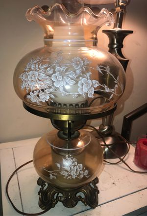 Vintage Accurate Casting Co. Antique Floral Hurricane Lamp for Sale in Severn, MD