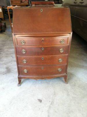 Vintage Small Mahogany Slant Top Secretary Desk w/Chair for Sale in Brooklyn, NY