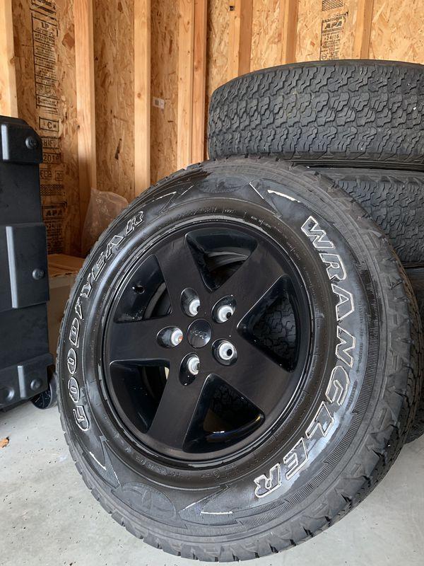 Entire set of upgraded Mopar Jeep Wheels!