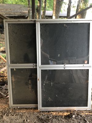 Office message boards 2' x 5'. Aluminum and glass for Sale in Camden, AR
