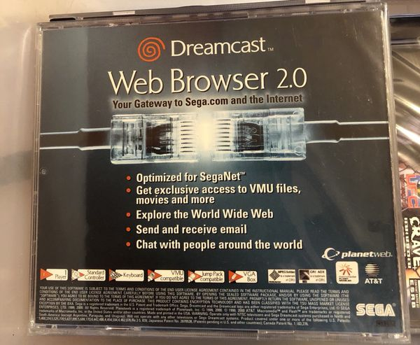 Sega Dreamcast web browser 2 0  New factory seal for Sale in Barnegat  Township, NJ - OfferUp