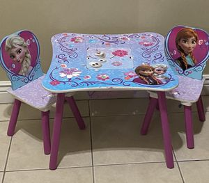 Delta Children Kids Table and Chair Set With Storage (2 Chairs Included) - Ideal for Arts & Crafts, for Sale in Orlando, FL