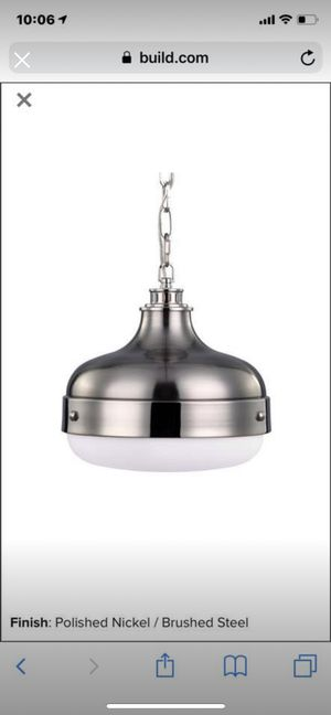 Feiss polished nickel pendant lights (2) for Sale in Chicago, IL