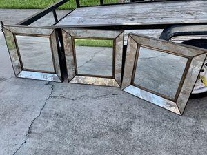 Crate & Barrel Dubois 3pc wall mirror set 20x20 lknew for Sale in Plantation, FL