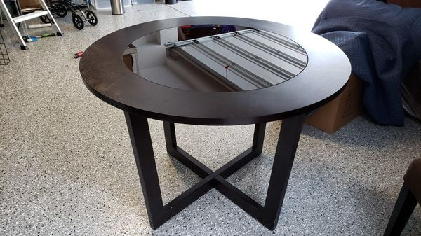 Wood and Glass Dinette Table