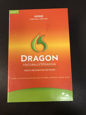 Nuance Dragon NaturallySpeaking Speech Recognition Software Version 11 for Sale in Pompano Beach, FL
