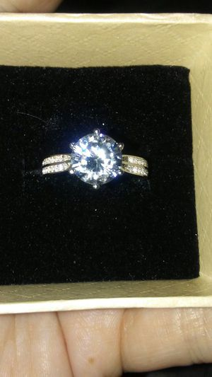 """100% SOLID """"FINE"""" RING WITH A HIGH QUALITY LAB CREATED STONE for Sale in Boston, MA"""