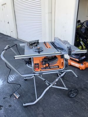 RIDGID 10 in. Pro Jobsite Table Saw with Stand for Sale in Westminster, CA