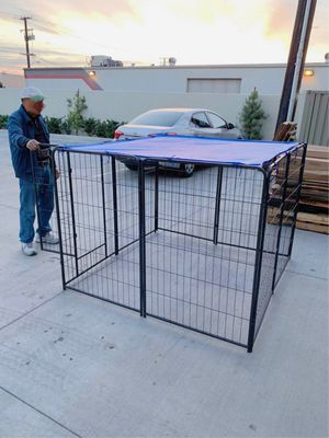 New 48 inch tall x 32 inches wide each panel x 8 panels heavy duty exercise playpen with sun shade tarp cover fence safety gate dog cage crate kennel for Sale in Santa Fe Springs, CA