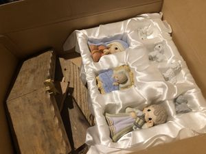 Precious moments nativity set with additional figures. for Sale in Bethlehem, PA