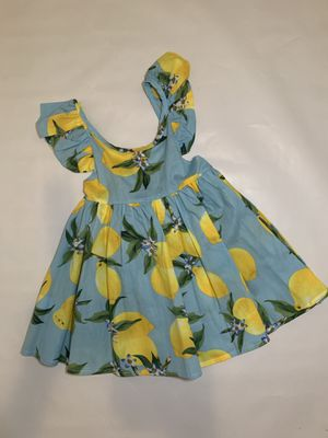 Yellow lemons- blue dress for Sale in Weslaco, TX