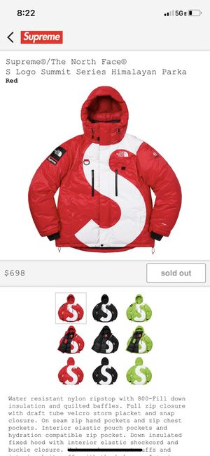 Suprem the north face himalayan parka for Sale in San Francisco, CA