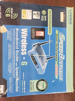 Linksys 2.4 wireless broadband router G for Sale in Macomb, MI