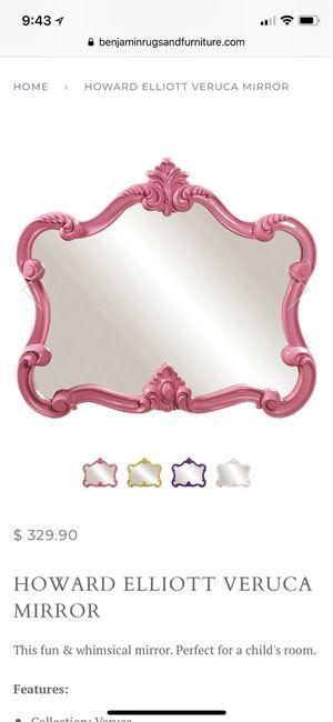 Pink Veruca Wall Mirror by Howard Elliot $330 Retail Like New for Sale in Seattle, WA