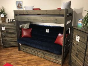 Futon bunk bed. Choice of nine color for Sale in Glendale, AZ