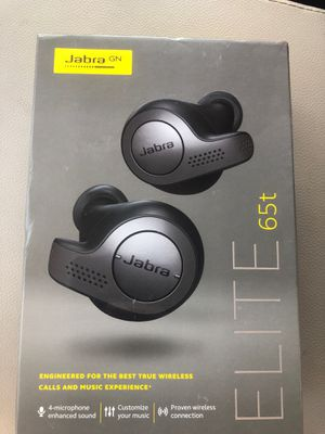 Jabra elite 65t headphones earbuds wireless new never opened still sealed for Sale in Dallas, TX