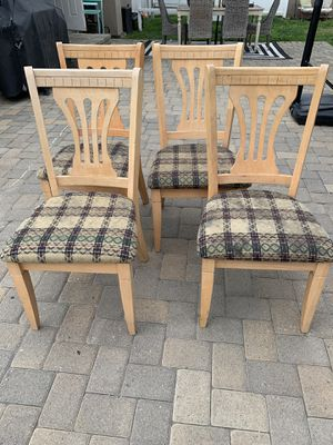 4 chairs $50 for Sale in Downey, CA