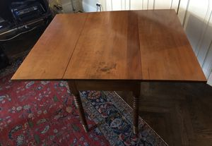 Antique Walnut Hand Turned Drop Leaf Table for Sale in Brooklyn, NY