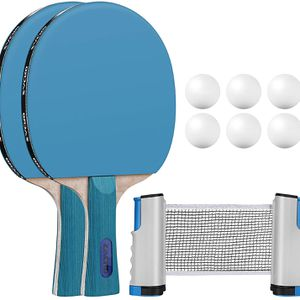 10-Piece Table Tennis Set - Includes 2 Paddles, 6 Balls and 170cm Retractable Net & Oxford Cloth Carrying Bag, Poplar Ping Pong Paddle for Family Acti for Sale in Alhambra, CA