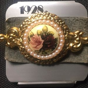 Vintage 1928 Hand Painted Floral Brooch for Sale in Midlothian, VA