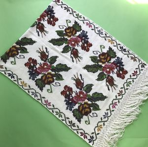 Vintage Floral Cross Stitch Throw Blanket for Sale in San Francisco, CA