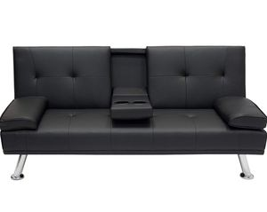 Best Choice Products Modern Faux Leather Futon Sofa Bed Fold Up & Down Recliner for Sale in Hoffman Estates, IL