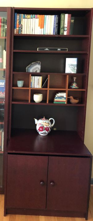 Billy bookcase with bottom cabinet for Sale in Adelphi, MD