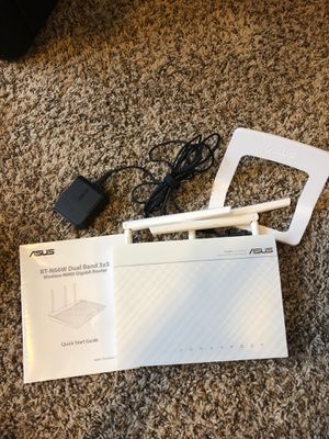 Asus RT N66W dual brand 3x3 wireless N900 gigabit router for Sale in Austin, TX