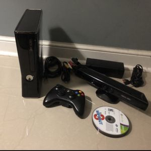 Xbox 360 S Console with Kinect (Includes 10 Games) for Sale in Hollywood, FL