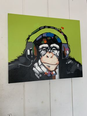 Monkey with headphones print for Sale in Orange, CA