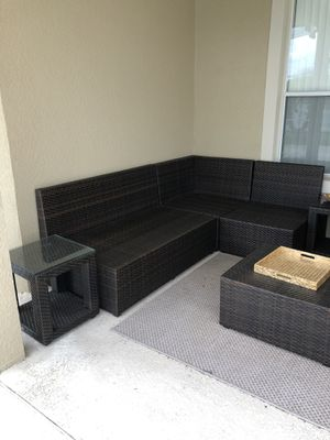 Pier 1 8 Piece Set Sectional Outdoor Furniture includes 3 Matching Storage Units for Sale in Orlando, FL