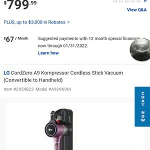 LG Cordzero Thinq Kompressor for Sale in Gig Harbor, WA
