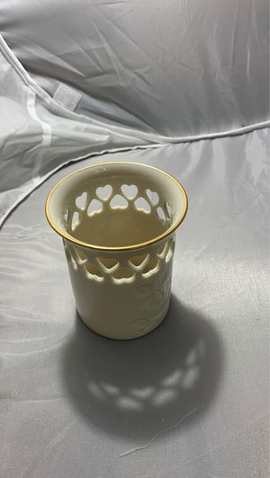 Lenox ivory heart pierced floral rose cup for Sale in Uniondale, NY