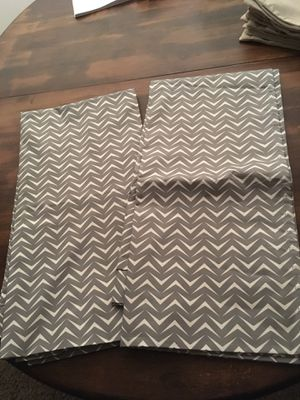 Modern Chevron Curtain ( White & Grey) Target for Sale in Apex, NC